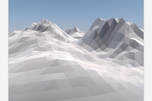 Mountain low poly background