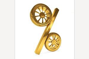 Car golden wheel sale