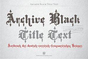 Archive Black Title Text