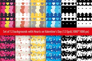 Set of 12 seamless backgrounds.