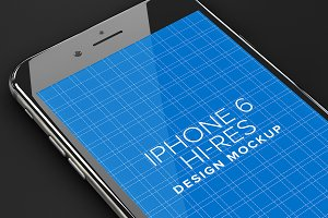 iPhone 6 App Design Mockup