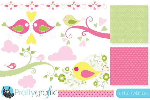 bird tweet clipart commercial use in Illustrations