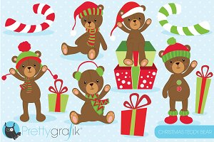 Christmas Teddy bear clipart