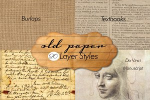 20 Old Paper Layer Styles