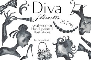 Diva Silhouettes Black collection