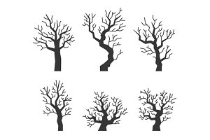Black Tree Silhouettes Set