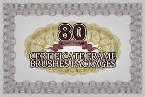 80 Certificate Frame Brushes