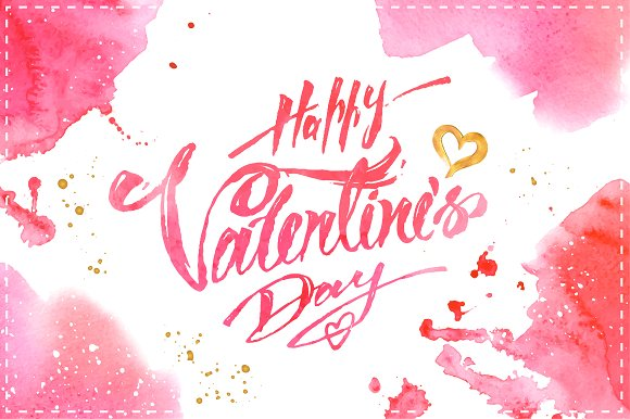 Happy Valentine\'s Day! Watercolor ~ Illustrations ~ Creative Market