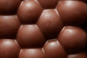 porous chocolate piece