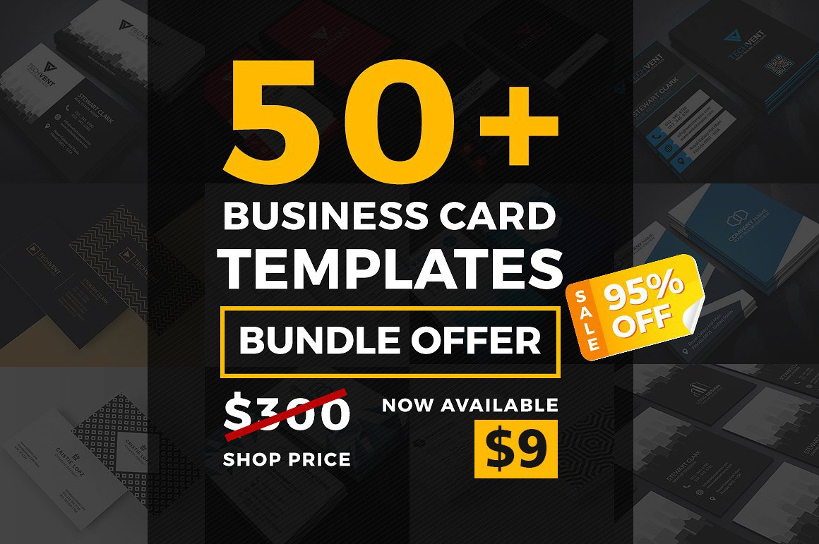 50 Mega Business Card Bundle ~ Business Card Templates ~ Creative Market