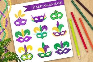 Mardi Gras mask set