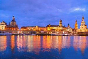 Embankment of Dresden, Germany