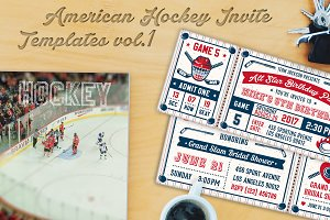 Hockey Invites Print Templates