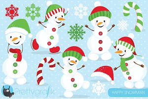 Happy Snowman clipart commercial