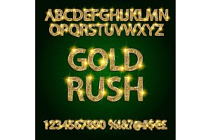 Gold rush! Vector Alphabet Set