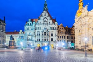 Downtown of Dresden, Germany