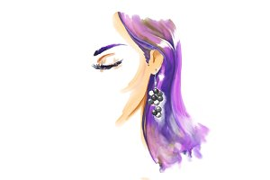 Fashion watercolor illustration