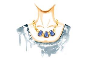 Fashion watercolor illustration