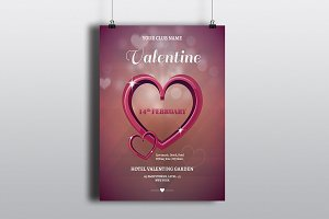 Valentines Party Flyer Template-V471