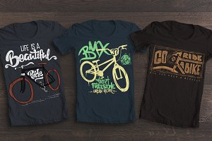 Bicycle t-shirt graphics