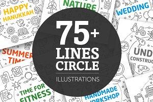 BIG SET LINES ILLUSTRATIONS (75+)