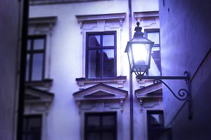 Street and lantern.