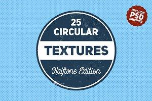 25 Circular Halftone Textures