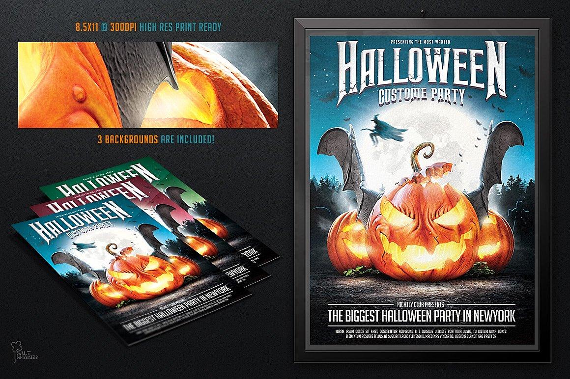 Halloween Party Flyer Template Flyer Templates Creative Market - Halloween party flyer template