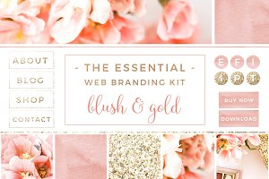 Blush & Gold Web Blog Branding Kit