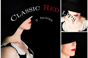 Classic red lips pack