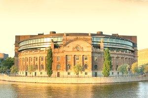 Stockholm parliament.