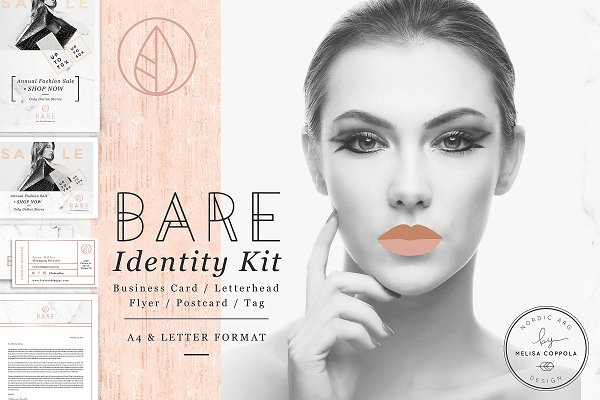 Stationery Templates: Nordic.Arg - Bare Fashion Stationery Kit