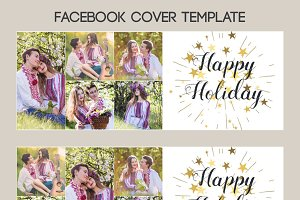 Happy Holidays Facebook Timeline PSD