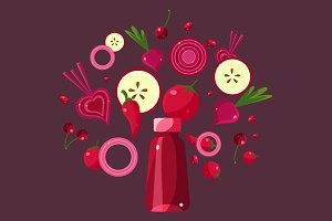 Ingredients For Red Smoothie