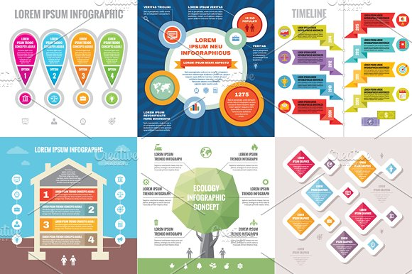 6 Infographic Business Concept ~ Presentation Templates on ...