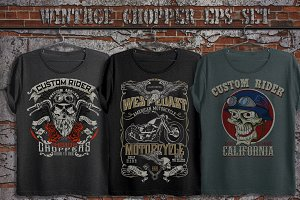 American chopper print set