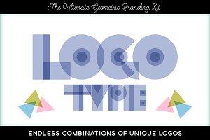 Logo Font Geometric Branding Kit