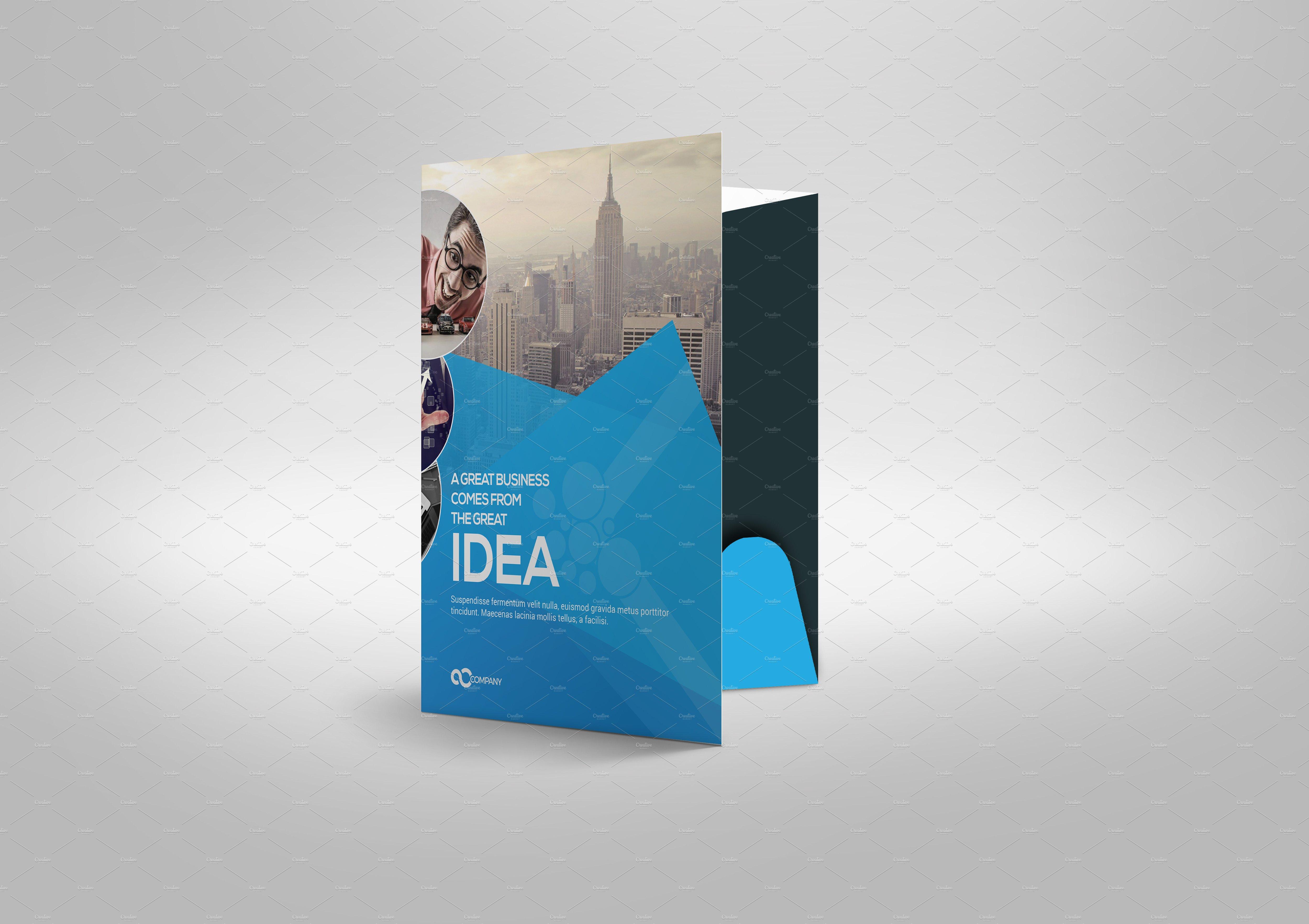 Corporate Presentation Folder Stationery Templates Creative Market