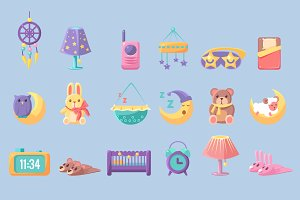 Baby Bedroom Objects Set