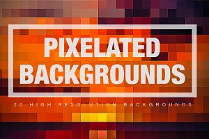 20 Pixelated Backgrounds