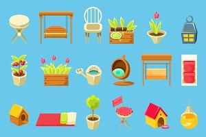 Garden Interior Elements Set