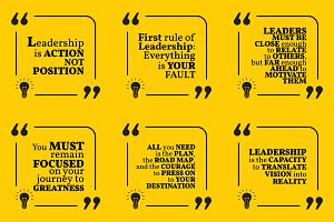 Nine motivational quotes. Set 11/55