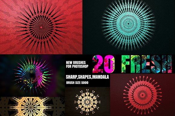 20 NEW BRUSHES FOR PHOTOSHOP