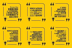 Nine motivational quotes. Set 17/55