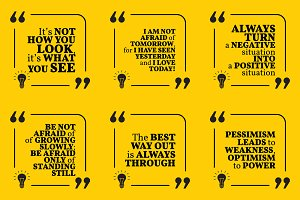 Nine motivational quotes. Set 19/55
