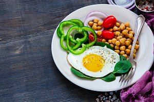 Healthy breakfast plate