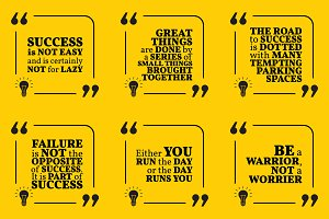 Nine motivational quotes. Set 20/55