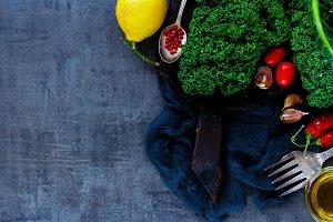 Raw vegetable ingredients