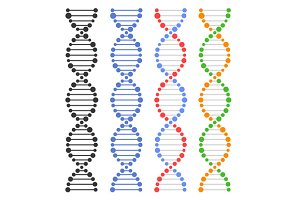 DNA Genome Molecules Set