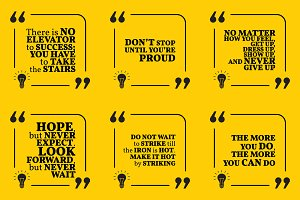 Nine motivational quotes. Set 22/55